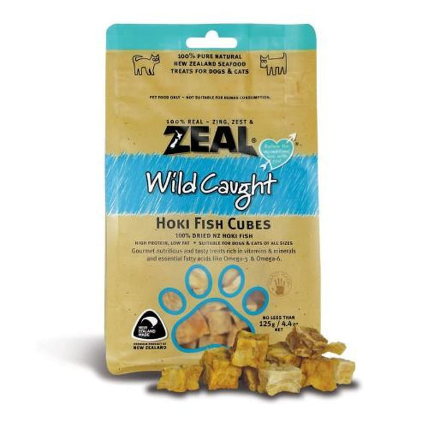 Zeal Wild Caught Hoki Fish Cubes for Dogs and Cats - Cat