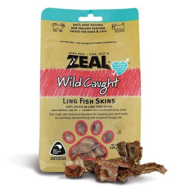Zeal Wild Caught Ling Fish Skins for Dogs and Cats - Cat