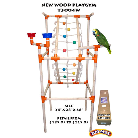 ZooMax Playgym Wood - Bird Cages & Homes