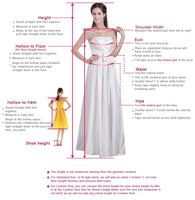 A-Line V-Neck Long Sleeves Silver Prom Homecoming Dress with Appliques  S703