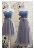 Sweetheart  Dress,Tea-Length Tulle Prom Dress S6484