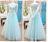 A-line Off-the-shoulder Tulle Prom Dress  S6400