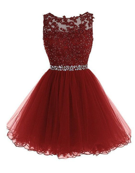 Sexy Short Homecoming Dress With Beadings S1085