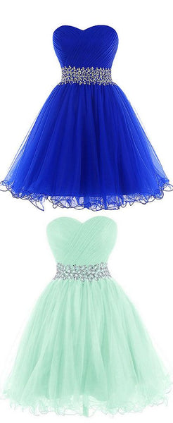Simple Short Tulle Homecoming Dress   S1091