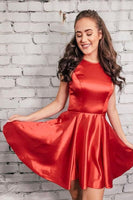 Jewel Neck Cut Out   Homecoming Dress S1208
