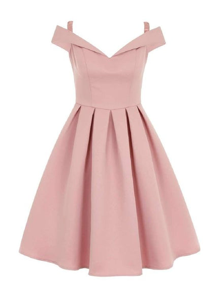 Off Shoulder Pink Cheap Short Homecoming Dresses  S1221