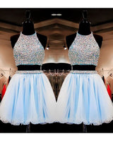 Sweet 16 Gowns Light Sky Blue Tulle Short Homecoming Dresses    S1224