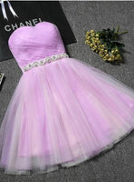 Cute Sweetheart  Tulle Knee Length Party Dress, Tulle Formal Dress , Short  Homecoming Dress    S1245