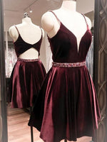 Burgundy Homecoming Dress Party Cheap Homecoming Dress  S1275