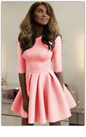 Elegant  Pink Mini Homecoming Dress   S1284
