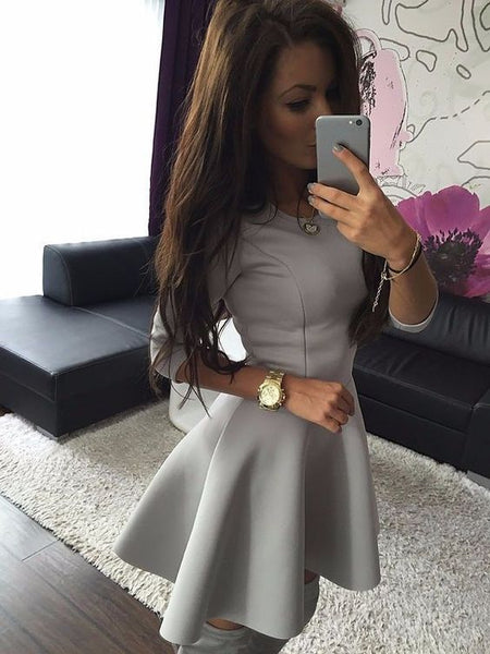 Fashion Women's 3/4 Sleeve Sexy Homecoming Dress  S1292