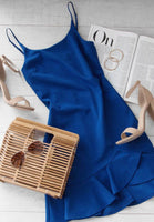 Royal Blue   Spaghetti Straps  Homecoming Dress     S1301