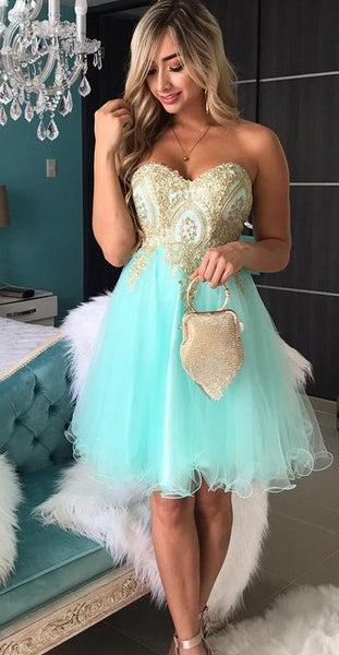A-Line Homecoming Dress,Sweetheart Homecoming Dress,Lace Homecoming Dress,Beaded Homecoming  S1313