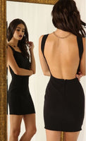 Cute A-Line  Open Back Sleeveless Short Homecoming Dress  S1373