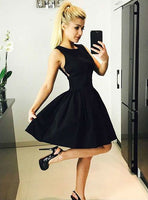 Black  Satin Homecoming Dress  S1412