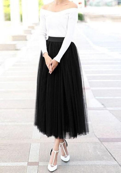 Black Puffy Tulle Plus Size Homecoming Dress  Cute Sweet  Dress    S1498