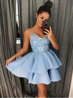 Spaghetti Strap Shiny Mini Homecoming Dresses Chic Summer Hoco Dress  S14