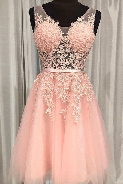 Princess Short Pink Homecoming Dresses Party Dresses S1511
