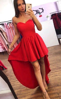 Sweetheart High-low Homecoming dress Simple Graduation Dress Custom-made School Dance DressS1528