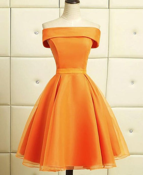 Lovely Organza Beautiful Knee Length Party Dress  Short Homecoming Dresses  S1548