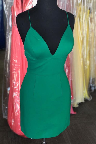 Green Homecoming Dresses ,Short Homecoming Dresses S1550