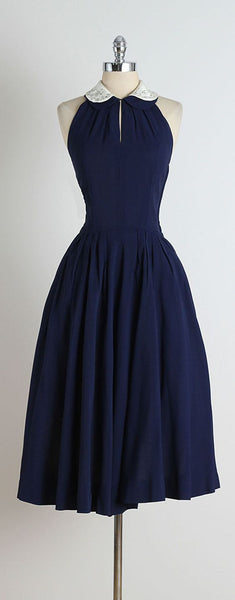 Blue Jeweled Collar Halter   Homecoming   Dress S157