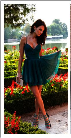 Sexy Homecoming Dress, V-Neck Homecoming Dress, Spaghetti Strap Homecoming Dress  S1580