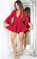 Deep V Neck Mini Homecoming Dress   S1595
