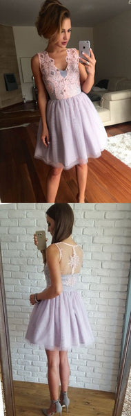 New Arrival lace Short Prom Dress Party Dress, sleeveless cute homecoming dresses S161