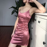Sexy Satin Homecoming Dress , Straps Homecoming Dress  S1628