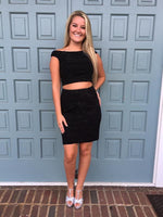 Two Pieces Sheath/Column Short ,Juniors Homecoming Dress    S1688