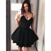 Spaghetti Straps V-neck Simple Sexy Short Cheap Homecoming Dresses  S16