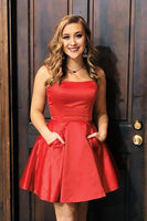 Cute A-Line Strapless Red  Short Homecoming Dress  S1705