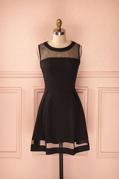 Black Homecoming Dress , Short Homecoming  Dress  S1761
