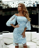 Off shoulder homecoming dresses,Blue homecoming dresses  S1765