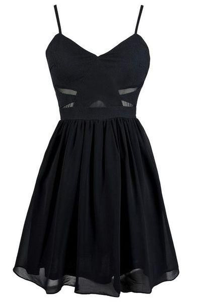 A -Line Black Homecoming Dress  S1821
