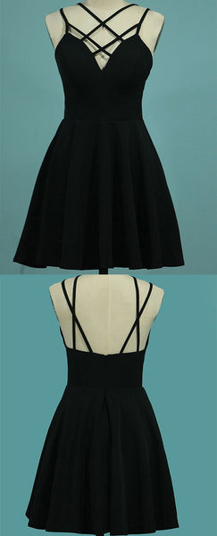 Spaghetti Straps A Line  Homecoming Dresses Satin  S1824