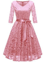 Vintage Lace Floral Party Homecoming  Dress  S1843