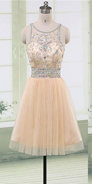 Gorgeous Beaded Elegant Fashion Cute Homecoming Prom Gown Dresses  S1860