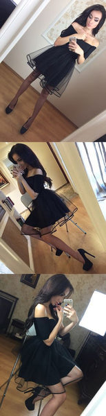 Fashion A-Line Off-The-Shoulder 3/4 Sleeves Short Homecoming Dress S190