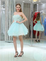 Sweetheart Lace Appliques Beading Short Tulle Homecoming Dresses  S1956