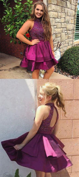 Open Back Rhinestone Homecoming Dresses, Lovely Homecoming Dresses  S1989