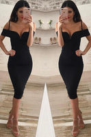 V  Neck Off Shoulder Knee Length Bandage Dress S200