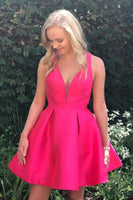 Appealing Short Homecoming Dress, V-Neck Homecoming  Dresses, A-Line Homecoming Dress  S2018