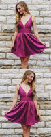 Hot Selling Simple V-neck Cheap Sleeveless Short Homecoming Dresses  S206