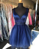 Sparkle Navy Blue  Long Prom Dress S23