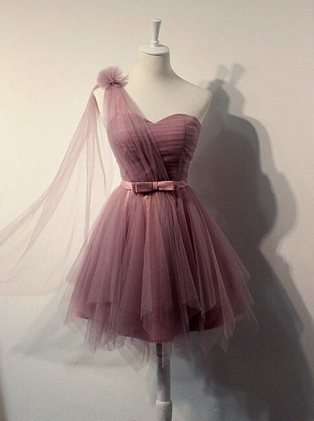 Charming Homecoming Dress,Tulle Homecoming Dress,Pleat Homecoming Dress,Cute Homecoming Dress S246
