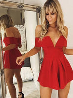 Red Cocktail Dresses,Sexy Cocktail Dress,Sexy Party Dresses,Short Homecoming Dress    S269
