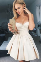 Cute round neck short prom dress, cute homecoming dress    S270