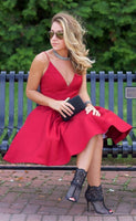 Short Prom Dress Homecoming Dress, Red Short Prom Dress Homecoming Dress, Simple A-line Homecoming Dress  S28